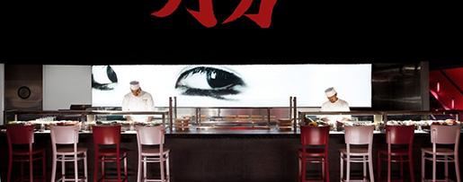 O restaurante Katsuya no hotel SLS