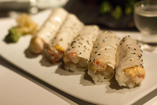 Baked Crab Hand Rolls - delicoso e cremoso! (Fonte: Call Me a Food Lover)
