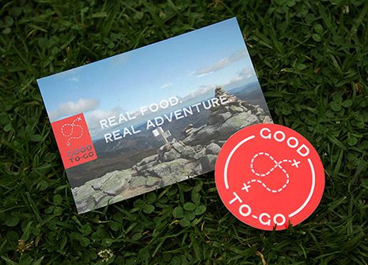 Real food. Real Adventure. Adoramos o logo! (Fonte: Site Good To-Go)