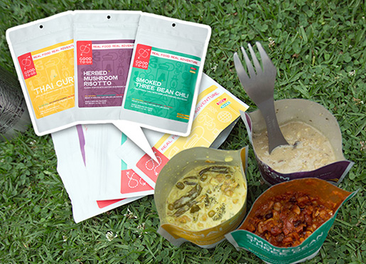 As 3 refeições oferecidas (Fonte: Site Good To-Go)
