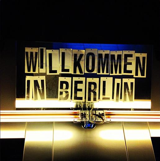 Wilkommen in Berlin! (foto tirada do lobby do hotel Casa Camper)
