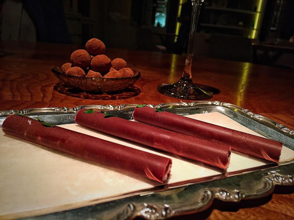 Chocolates para terminar a noite bem!