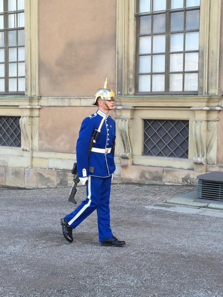 Um guardinha sueco que cliquei perto do Palácio Real