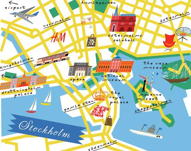 Mapa de Estocolmo (Fonte: Elle Decor)