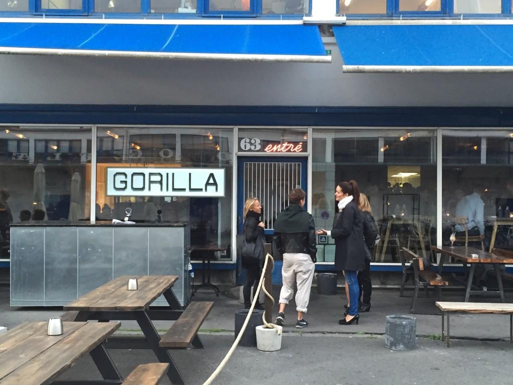 Fachada do restaurante Gorilla, em Vesterbro