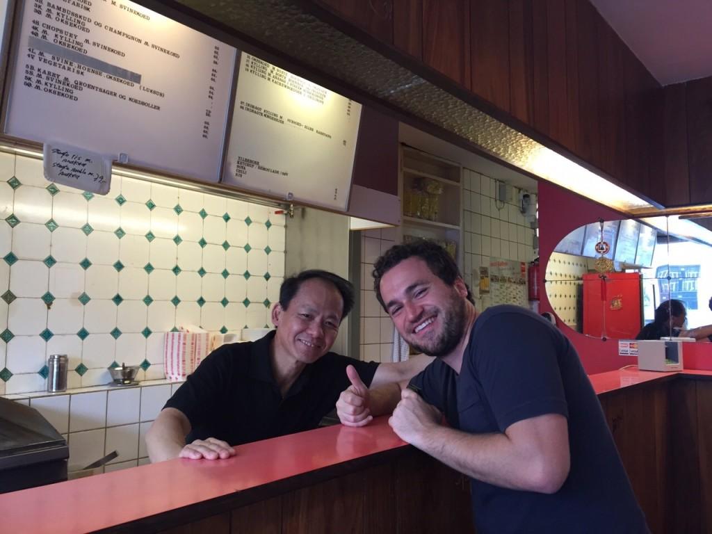 Ron e nosso amigo chinês