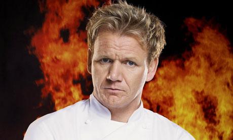 O mal humorado Gordon Ramsay de Hell's Kitchen