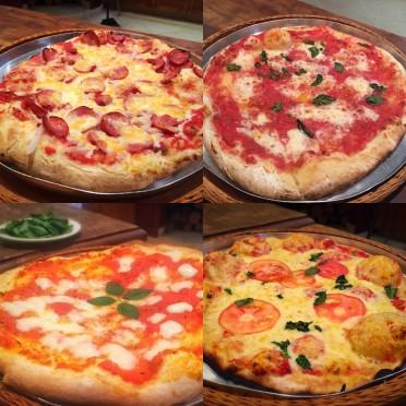 Algumas das pizzas que já fizemos lá na fazenda! Uma melhor que a outra!!!