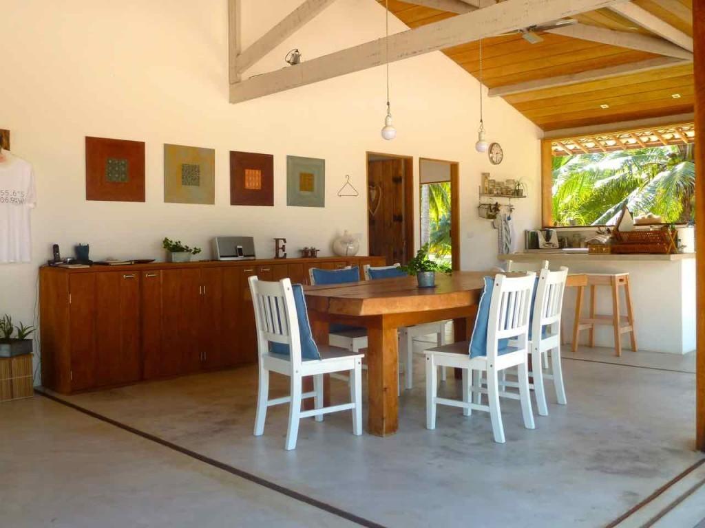 O café da manhã é servido na sala de jantar do Vittorio e da Luisa! Delícia!