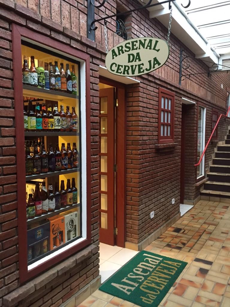 Arsenal da Cerveja - fachada da casa